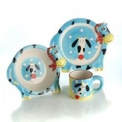 Zestaw obiadowy ceramiczny Krówka