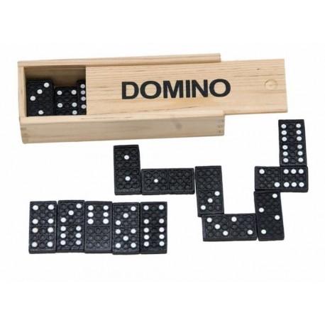 Domino klasyczne w drewnianym pudełku
