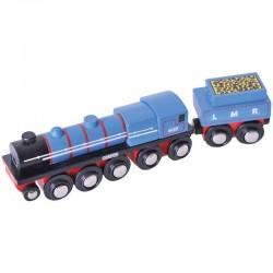Lokomotywa Gordon pociąg drewniany - wyprzedaż -45%