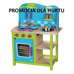 Drewniana przytulna kuchnia dla dzieci