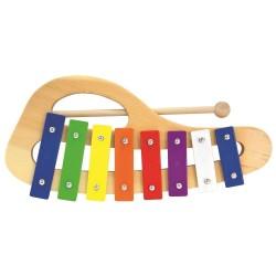 Bino ksylofon z drewna i metalu