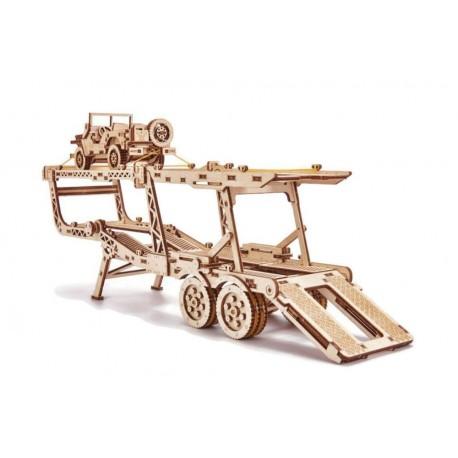 Laweta puzzle 3D - naczepa do Big truck z jeepem