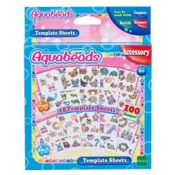 Aquabeads Zestaw arkuszy z szablonami