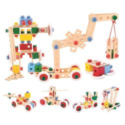 Kocki konstrukcyjne w wiaderku pojazdy – 120 elementów