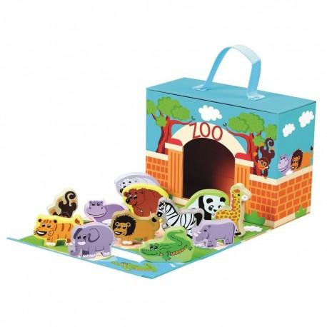 Rozkładane zoo w walizce