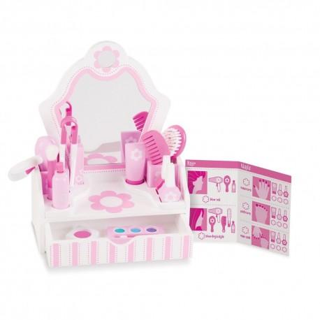 Toaletka z lustrem - domowy salon piękności