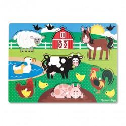 Drewniane puzzle – układanka – Farma