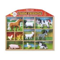 Przyjaciele z farmy – Zestaw 10 figurek domowych zwierząt