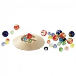 Szklaki Marbles - Szklane kulki z podstawą do grania i dekoracji