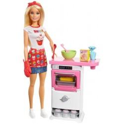 Barbie Domowe wypieki Zestaw do zabawy + Lalka