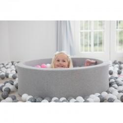 Suchy basen dla dziecka 115x30 jasnoszary + 400 piłek