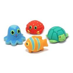 Gumowe zabawki do kąpieli - morskie stwory