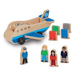 Samolot drewniany z pasażerami