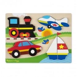Duże puzzle 3d – pojazdy 4 w 1