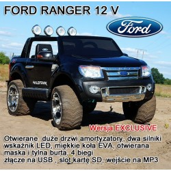 FORD RANGER F150 LICENCJA, MIĘKKIE KOŁA EVA, WOLNY START, KLUCZYK - 12V