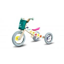 Rowerek biegowy drewniany 2w1 Twist Safari by Mamala.leo White