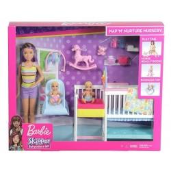 Barbie Opieka nad maluszkiem Zestaw + Lalka