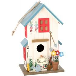 Domek dla ptaków kolorowy karmik budka lęgowa ozdobna