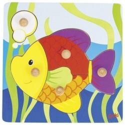 Goki Ryba układanka z uchwytami