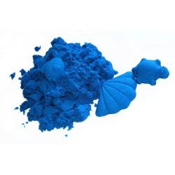 Piasek kinetyczny 2 kg niebieski z foremkami - polski piasek