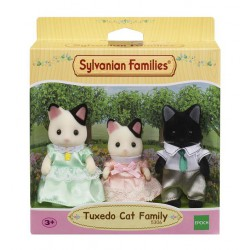 Sylvanian Families Rodzina kotków z czarnym uszkiem (Tata, Mama, Siostra)