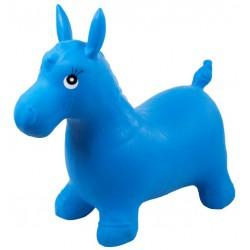 Gumowy skoczek konik - niebieski
