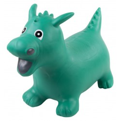 Gumowy skoczek smok - zielony
